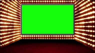 Zelená obrazovka boxovaném designu — Stock video