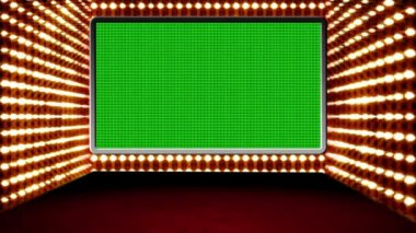 Green screen box design Glamour Virtual Studio — Stock Video