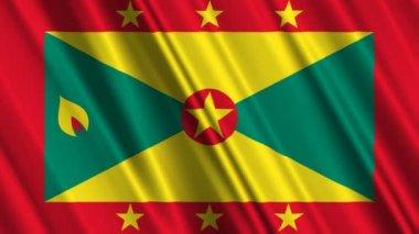 Grenada Flag waving — Stock Video