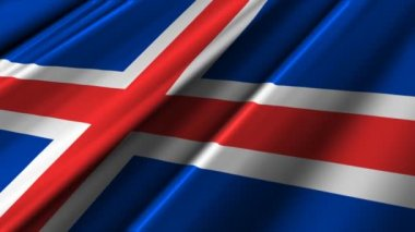Iceland Flag waving