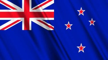 New Zealand flag — Stock Video #14008033