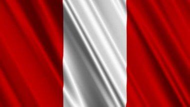 Peru Flag — Stock Video