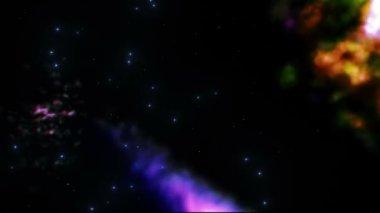 Galassia con colorati starfields nello spazio. — Video Stock