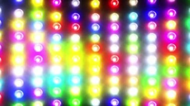 Flashing colorful disco lights — Stock Video