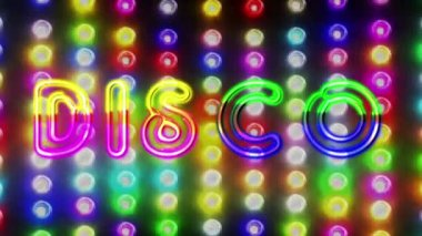 Flashing colorful disco lights