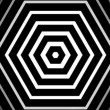 Stock Video: Hypnotic rhythmic movement of geometric black and white shapes