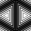Hypnotic rhythmic movement of geometric black and white shapes — Stock Video