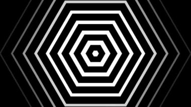 Hypnotic rhythmic movement of geometric black and white shapes — Stock Video #14758021