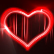 Retro style neon heart, looping animation. — Stock Video