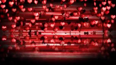 Hearts flying animation. Valentine Day — Stock Video