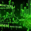 Optimistic business animation with dollar symbols. — Stock Video