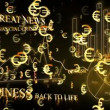 Optimistic business animation with euro symbols — Stock Video #15442145