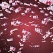 Stock Video: 10 euro banknotes seamless looping animation