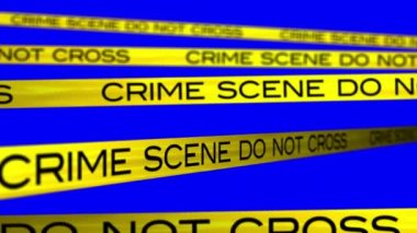 Crime Scene animation with bluescreen background. — Stock Video