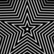 Hypnotic rhythmic movement of geometric black and white shapes - Stock Photo