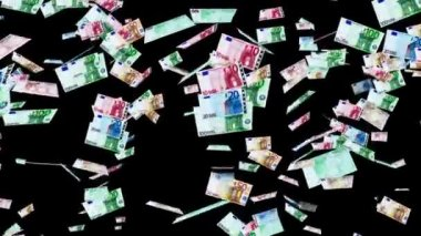 Euro banknotes animation — Stock Video