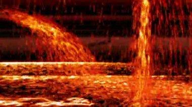 Melted iron — Stockvideo