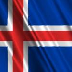 Iceland Flag — Stock Photo