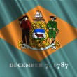 Delaware State Flag - Stock Photo