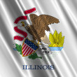 Stock Photo: Illinois State Flag