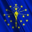 Indiana State Flag - Stock Photo