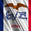 Iowa State Flag - Stock Photo