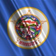 Minnesota State Flag - Stock Photo