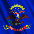 North Dakota State Flag - Stock Photo