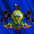 Pennsylvania State Flag — Stock Photo