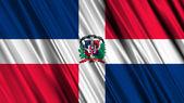 Bandiera dominicana rebublic — Foto Stock