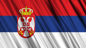 Serbia Flag — Stock Photo
