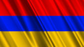 Armenia Flag — Stock Photo