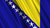 Bosnia Herzegovina Flag — Stock Photo