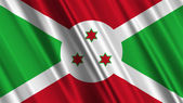 Burundi Flag — Stock Photo