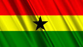 Ghana Flag — Stock Photo