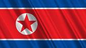 North Korea Flag — Zdjęcie stockowe
