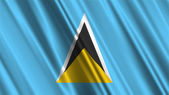 Saint Lucia Flag — Stock Photo