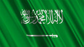Saudi Arabia Flag — Stock Photo