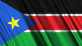 South Sudan Flag — Stock Photo