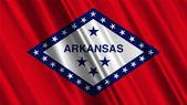 Bandera del estado de arkansas — Foto de Stock