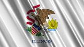 Illinois State Flag — Stock Photo