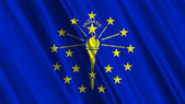 Indiana State Flag — Stock Photo