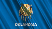 Oklahoma State Flag — Stock Photo