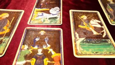 Tarot Cards 01 dolly right — Stock Video