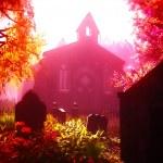 Autumn in Cemetery 3D render 4 — Stock Photo