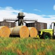 Agriculture Harvester Concept 3D render - Stock Photo