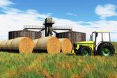 Jordbruk skördare konceptet 3d render — Stockfoto