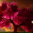 Magical cherry tree, 3D render  — Stock Video