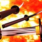 Samurai Katana 3D artwork — Stock Photo #50508127