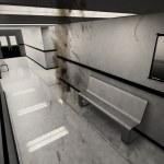Scary Horror Hospital Corridor Yurei Japanese Ghost — Stock Photo